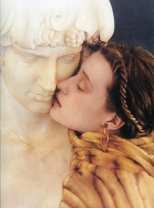 woman and statue