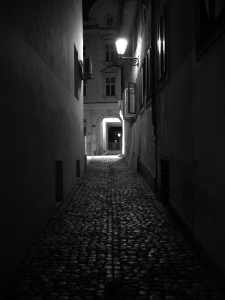 Alley_at_night,_Ljubljana,_Slovenia_(4813548900)